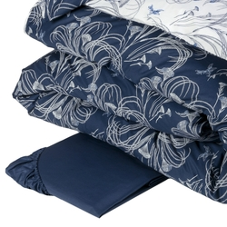 POLLINE Duvet cover set-IT QUEEN-BLUE