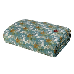 RED HOUSE Quilted bedspread-IT QUEEN-BLUE