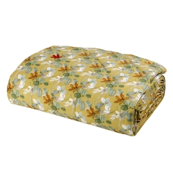 RED HOUSE Quilted bedspread-IT QUEEN-YELLOW