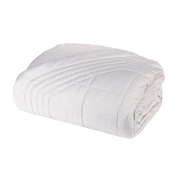 Quilted bedspread RACHELE 270x270 cm- WHITE SILK