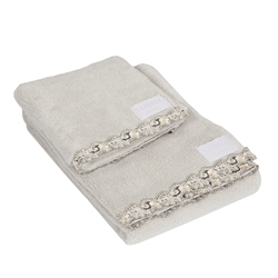 PETIT MAISON Guest+hand towel-PEARL GRAY+BLACK IVO