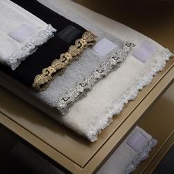 PETIT MAISON Towel 100x150-PEARL GRAY+BLACK IVORY