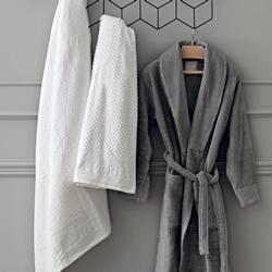 NERVURES SPA TOWEL 100x180-WHITE SILK
