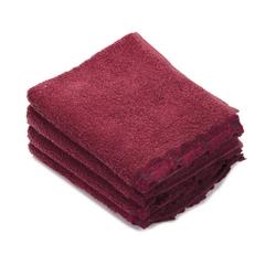 PETIT MAISON set 4 washcloth 30X30-BORDEAUX