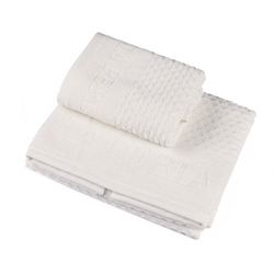 Towel set 40x60 + 60x110 cm ADONE - WHITE SILK