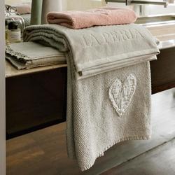 set 2 towel HEART-40X60 e 60X110-chalk