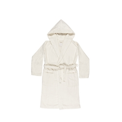 ADONE Bathrobe L-WHITE SILK