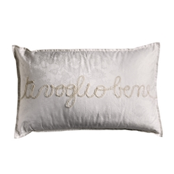 TI VOGLIO BENE DECORATIVE PILLOW-30x50-WHITE SILK
