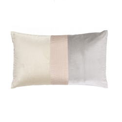 Cushion PLISSE' -30x50- AVORIO / grey