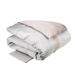Duvet cover PLISSE' -IT DOUBLE -grey / pink BOHO