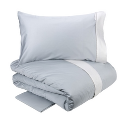 Duvet cover PLISSE'- IT DOUBLE- chalk / white silk