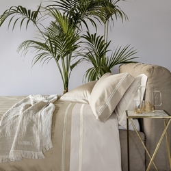 Bedding set MACRAME'-IT DOUBLE-white silk