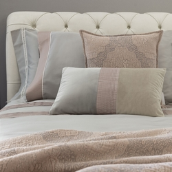 Bedding set PLISSE' -IT DOUBLE- grey / pink BOHO