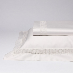 Bedding set SFILATA- IT DOUBLE -white silk