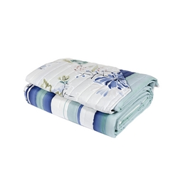 Reversible quilted bedspread LOTUS -270x270-water