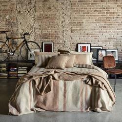 ALTANA quilt -270x270 cm -Cognac / Natural brown