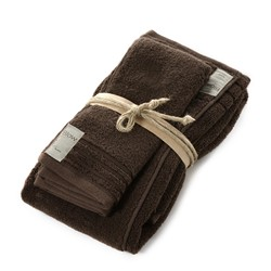 COCCOLA Guest and hand towel set (1+1)  MARRONE Unica