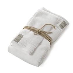COCCOLA Guest and hand towel set (1+1) BIANCO
