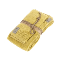 COCCOLA Guest and hand towel set (1+1)-mustard