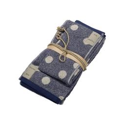 Guest + hand towel POLKA DOTS 38x50 + 50x110 BLUE