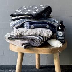 Guest + hand towel POLKA DOTS 38x50 + 50x110 GRAY