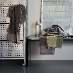 Guest + hand towel CORTEN 38x50 + 50x110 GREEN