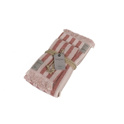Guest + hand towel RIGHE 38x50 + 50x110 PINK