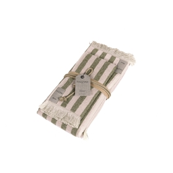 Guest + hand towel RIGHE 38x50 + 50x110 GREEN