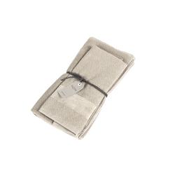 VELOUR Set of 2 towel 40x60 cm 60x110 cm -beige