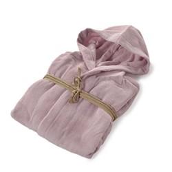 COCCOLA Hooded microcotton bathrobe  QUARZO L