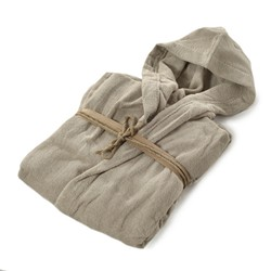 COCCOLA Hooded microcotton bathrobe