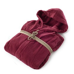 COCCOLA Hooded microcotton bathrobe  RUBINO L