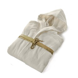 COCCOLA Hooded microcotton bathrobe  PANNA S