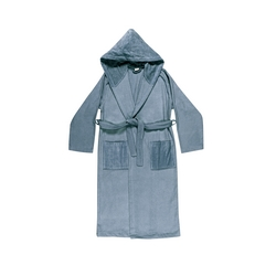 VELOUR Bathrobe L - blue