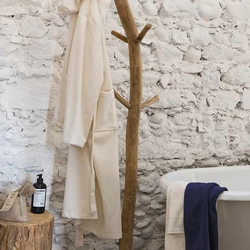 VELOUR Bathrobe L - cream