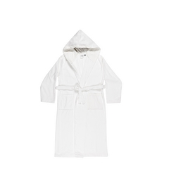 VELOUR Bathrobe L - white
