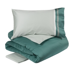 Duvet cover set  KUBRIC-IT DOUBLE-GRAY GREEN/TEAL