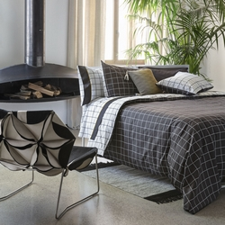 Duvet cover set CHEQUERED --IT DOUBLE- grey