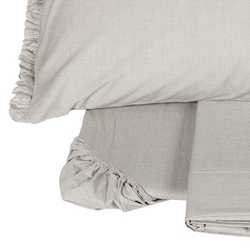 FIL à FIL sheet set-2 PIAZZE-grey