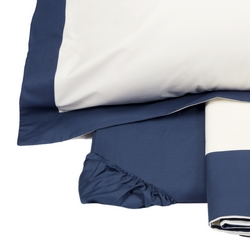 Maxi Sheet Set PLEIN 2 PIAZZE OFF WHITE / BLUE