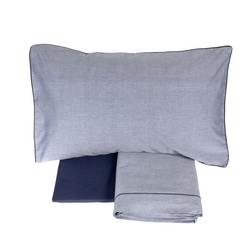 Bedding Set OXFORD-IT DOUBLE-BLUE