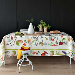 Tablecloth 180X280 FOOD-180x280 -WHITE