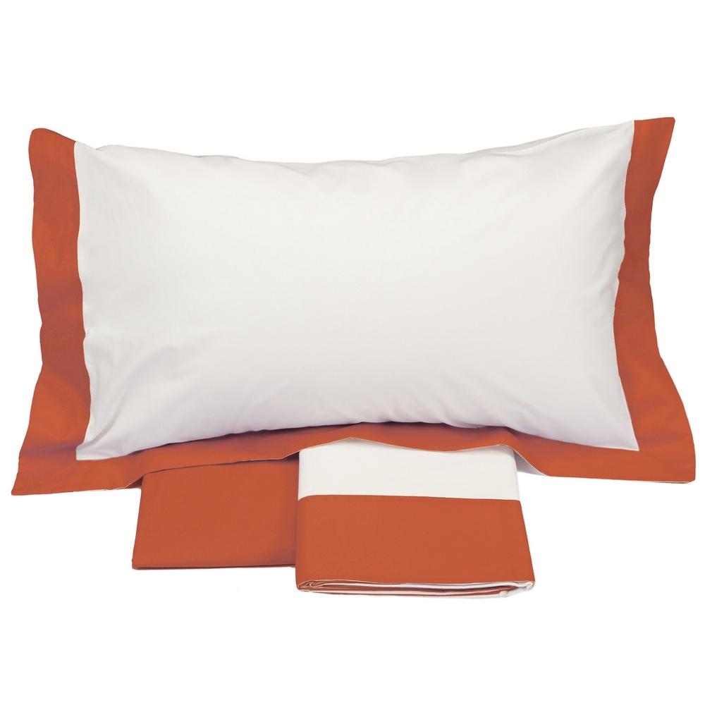 PLEIN Sheet set - IT DOUBLE - white/orange