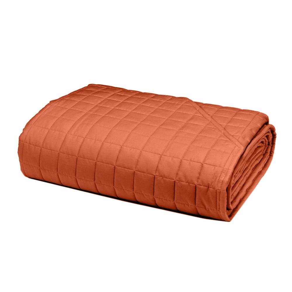 PLEIN Quilted bedspread - IT QUEEN - orange