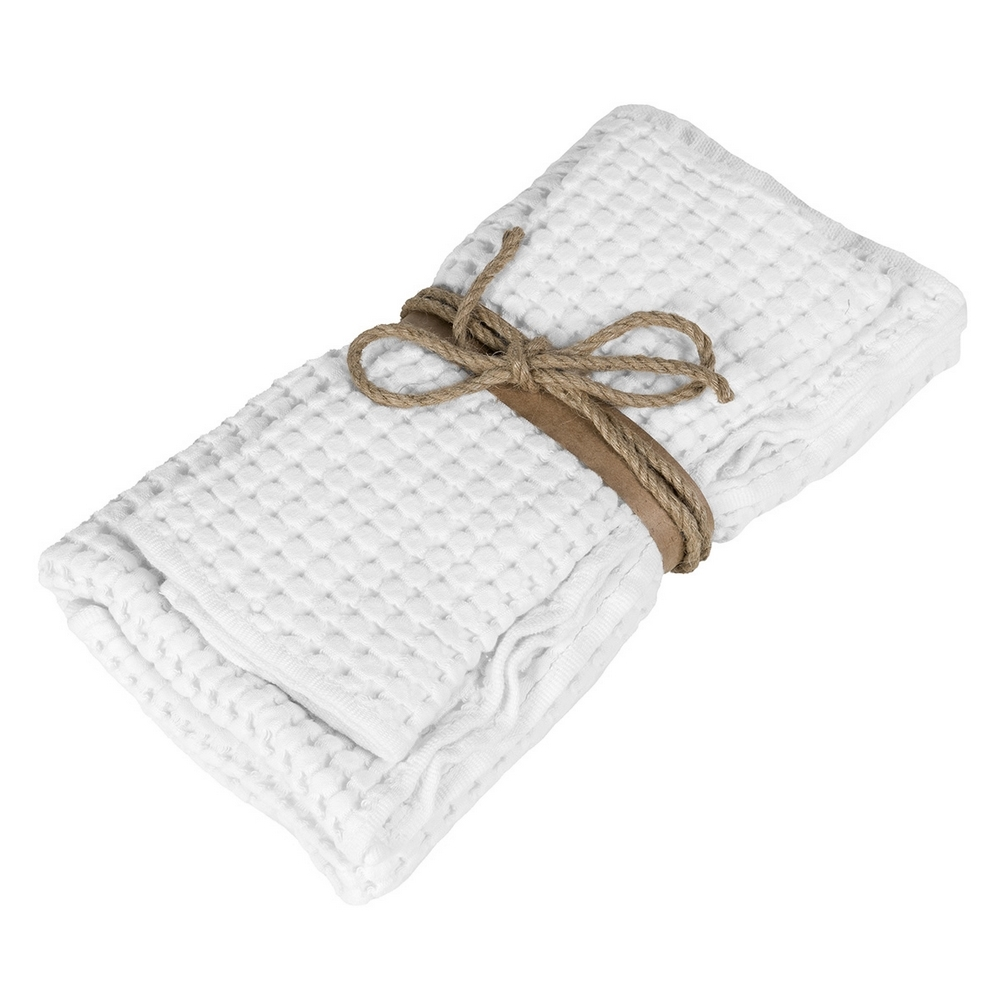 NETTARE set of 2 towel-38x50+50x110-WHITE