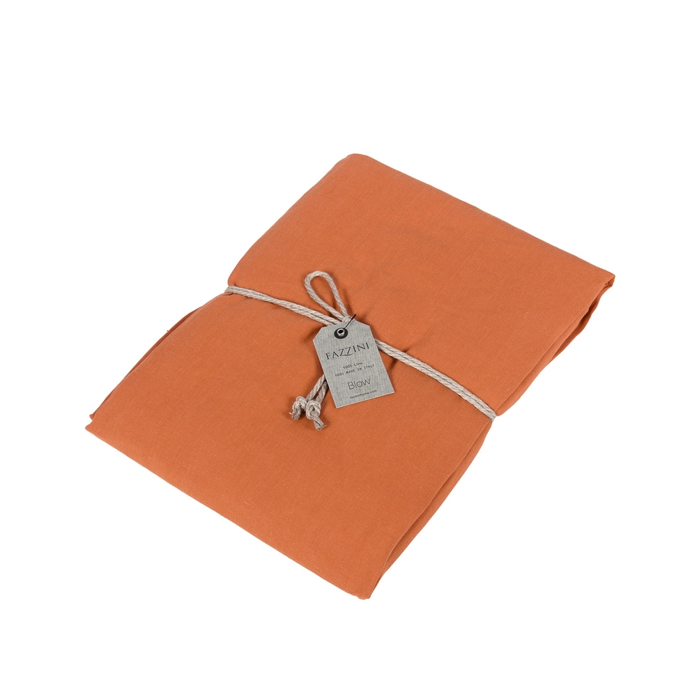 SOFFIO Fitted sheet - IT QUEEN - orange