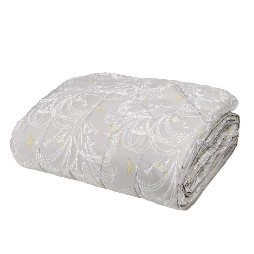 POLLINE Quilted bedspread-IT QUEEN-GREY