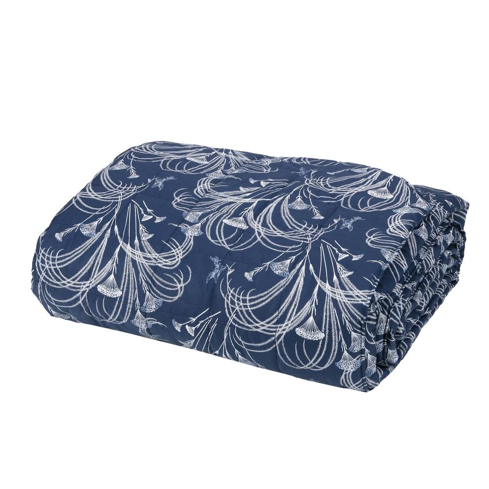 POLLINE Quilted bedspread-IT QUEEN-BLUE