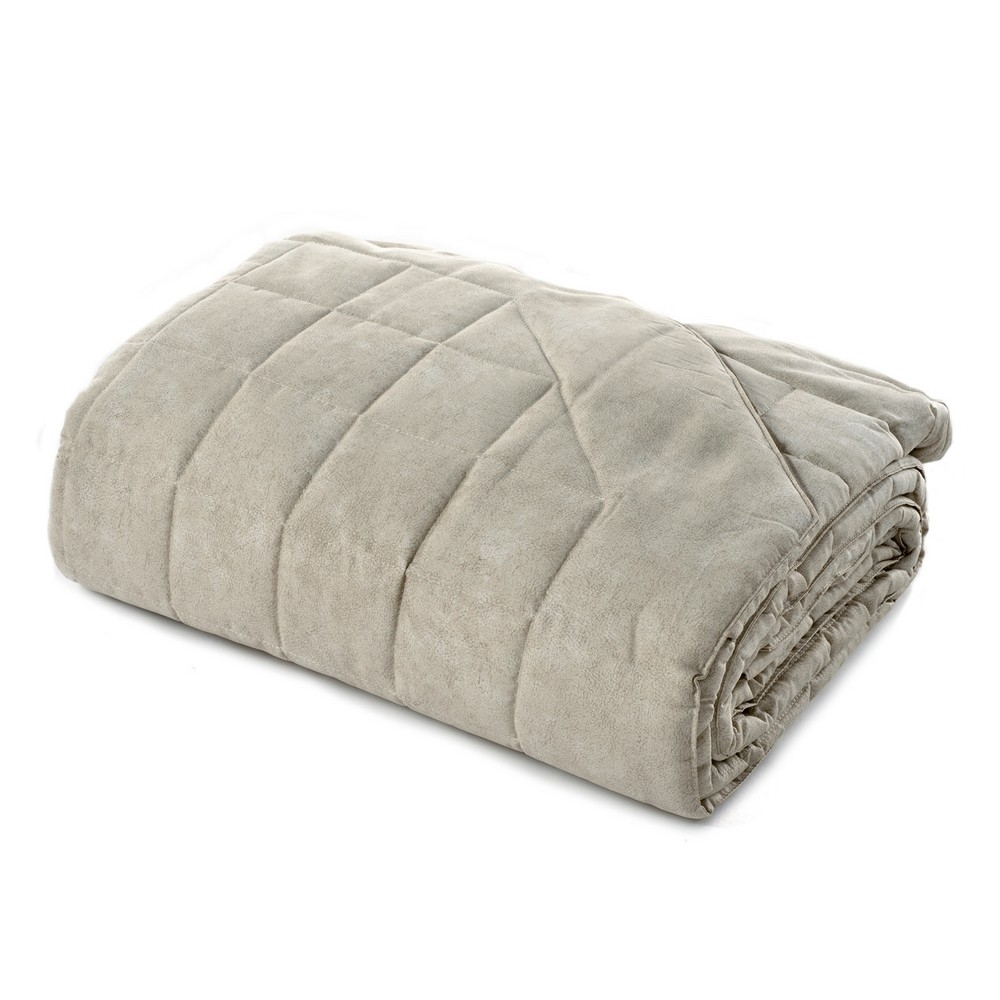 GALUCHAT Quilted bedspread-IT SINGLE-BEIGE