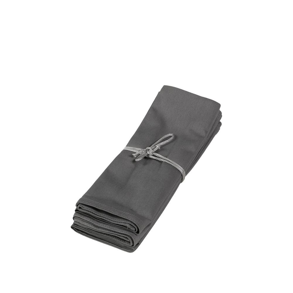 TON SUR TON Set of 4 napkins 50x50 cm - GREY